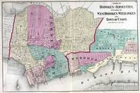 Vintage Map of Jersey City, Hoboken & Weehawken NJ
