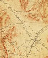 Vintage Map of The Las Vegas Valley NV (1907)