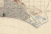 Vintage Map of Long Beach California (1923)