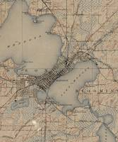Vintage Map of Madison Wisconsin (1904)