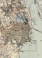 Vintage Map of Mobile Alabama (1940)