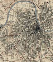 Vintage Map of Nashville Tennessee (1929)