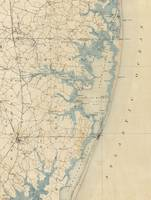 Vintage Map of Ocean City Maryland (1900)