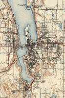 Vintage Map of Olympia Washington (1934)