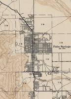 Vintage Map of Palm Springs California (1942)