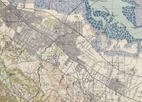 Old Map of Palo Alto & Silicon Valley CA (1943)