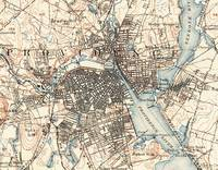 Vintage Map of Providence Rhode Island (1887)
