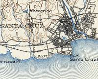 Vintage Map of Santa Cruz California (1899)