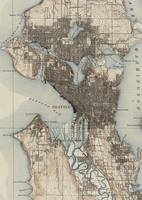 Vintage Map of Seattle Washington (1908)