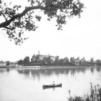"""Canoeing on Lake Merritt, Oakland, circa 1880"" by worldwidearchive"