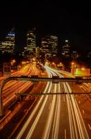 Long Exposure Light Trails Urban City Industrial