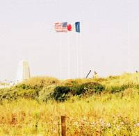 American and French Flags in Normandy