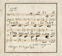 Paganini, Niccolò REMARKABLE LONG AUTOGRAPH MUSICA