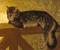 Summer, Cat on a Balustrade by Théophile Alexandre