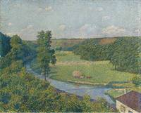 The Sambre Valley by Theo van Rysselberghe, 1890