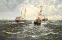 Thomas Rose Miles Herring boats towing out