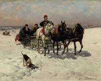 Troikas Racing across the Steppes by Alfred Wierus