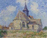 The Church At Porte-joie On The Eure by Gustave Lo