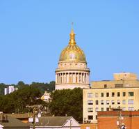 Charleston, WV Capital Dome and Buildings
