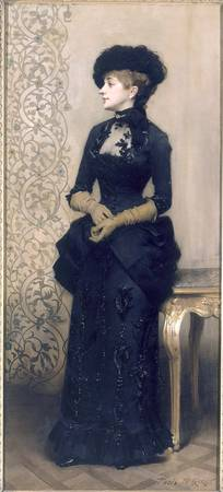 Woman wearing gloves, also known as The Parisienne