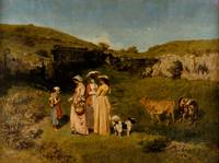 Young Ladies of the Village by Gustave Courbet, 18