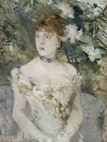 Young Girl in a Ball Gown,  Berthe Morisot, 1879