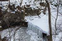 Indian Run Falls in Winter, Dublin, Ohio