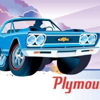 Classic Plymouth GTX Art Prints & Posters by Bob Scott