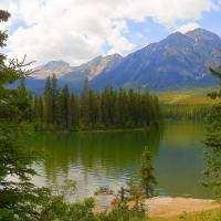 Pyramid Lake - Jasper National Park Art Prints & Posters by Photography Moments