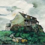 """Farm House with Goats"" by DavidBleakley"