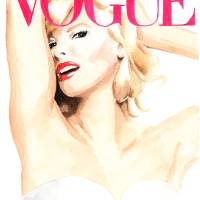 Linda Evangelista. Vogue Magazine Cover. Art Prints & Posters by Kasia Blanchard
