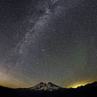 Milky Way & noctilucent clouds by Mount Rainier Art Prints & Posters by JOHN CHAO