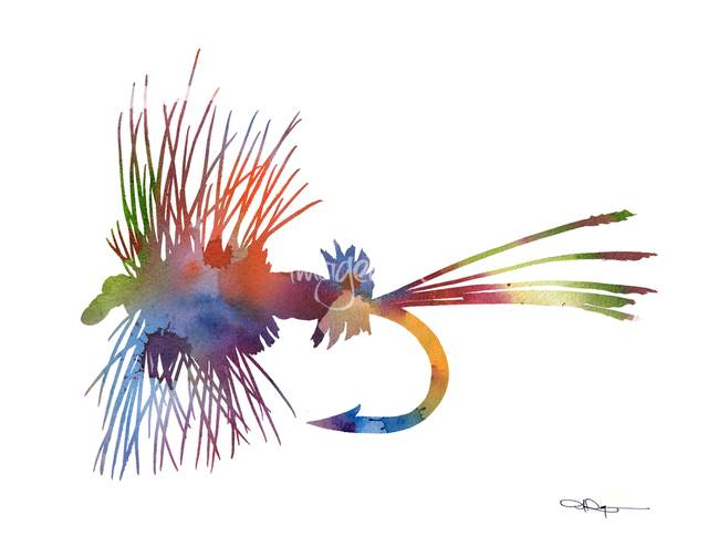 Stunning fly fishing artwork for sale on fine art prints for Fly fishing flies for sale