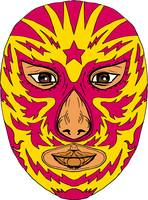 Luchador Mask Star Lightning Bolt Drawing