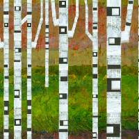 Birch Trees with Green Grass Art Prints & Posters by Michelle Calkins
