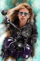 Steven Tyler on a bike