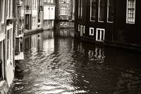 Rhythms of Amsterdam Reflections. Black and White