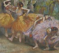 EDGAR DEGAS (1834 - 1917) - DANCERS WITH FANS, C.