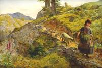 Ebenezer Newman Downard - A Mountain Path at Capel