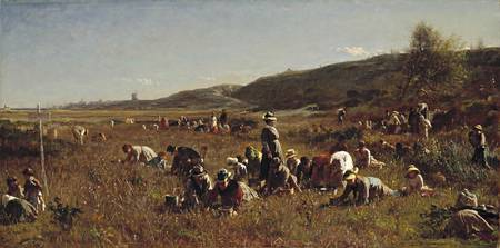 Eastman Johnson, 1824-1906. The Cranberry Harvest,