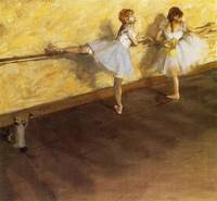 Edgar Degas, Dancers Practicing at the Barre, 1877