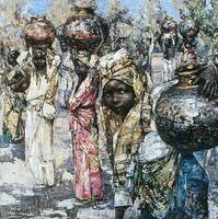 Edward Atkinson Hornel - Tamil Water Carriers 1909