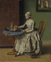 A Dutch Girl at Breakfast, Jean-Etienne Liotard, c