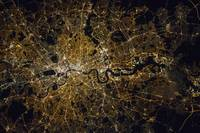 London at Night, NASA