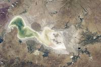 Lake Urmia  in western Iran.