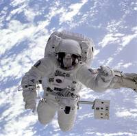 Michael Gernhardt in space during STS-69 in 1995