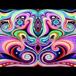 """Cosmic Orgasm Gaia Panorama"" by cybergypsyarts"