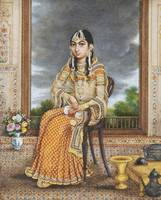 A seated princess, India, Delhi, circa 1820-30