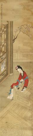 After Gai Qi (1773-1828) An elegant palace lady si