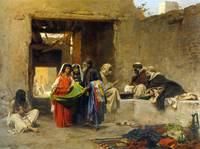 At The Souk by Eugene Alexis Girardet